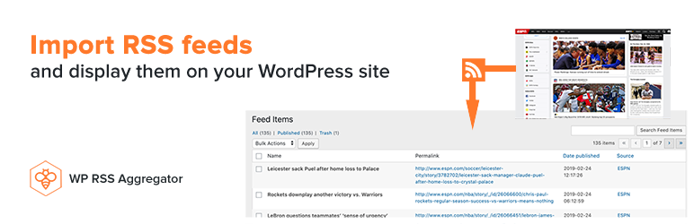 WP RSS Aggregator – Automatic and Powerful Content Aggregation and Curation