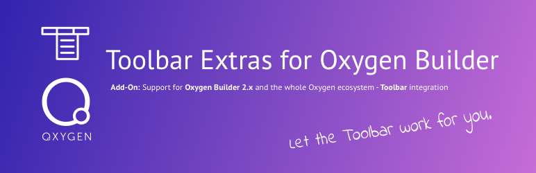 Toolbar Extras for Oxygen Builder – Power Up Your Admin Bar