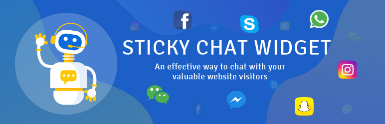 Sticky Chat Widget: Click to chat