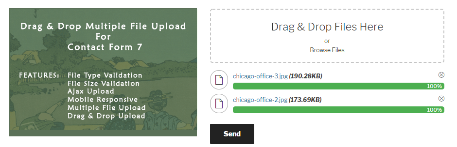 Drag and Drop Multiple File Upload – Contact Form 7