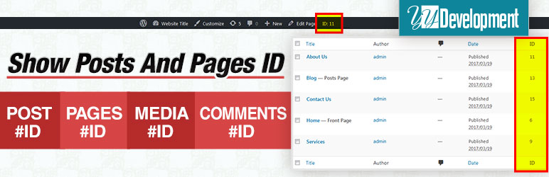Show Pages IDs