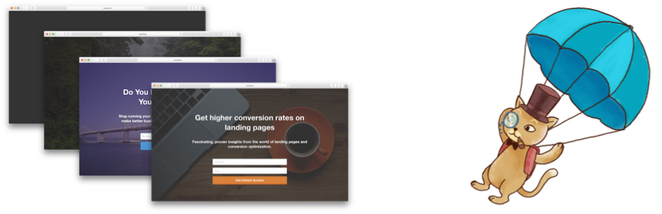 Landing Page Cat – Coming Soon Page