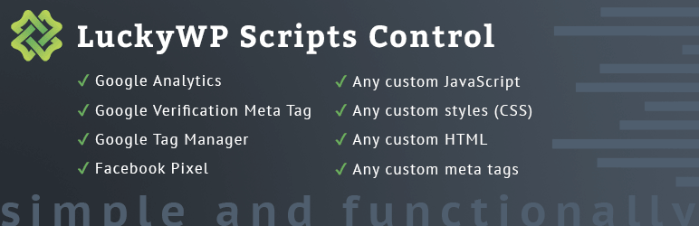 LuckyWP Scripts Control
