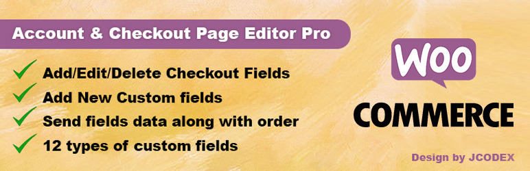 Custom Fields WooCommerce Checkout Page | Jcodex | checkout field customizer