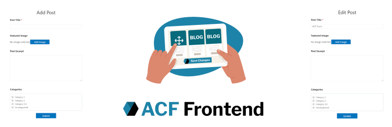 ACF Frontend Form for Elementor – Add and edit posts