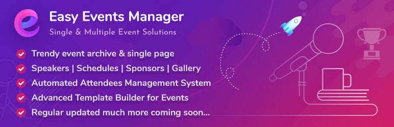 Easy Events Manager | Pluginbazar | event manager