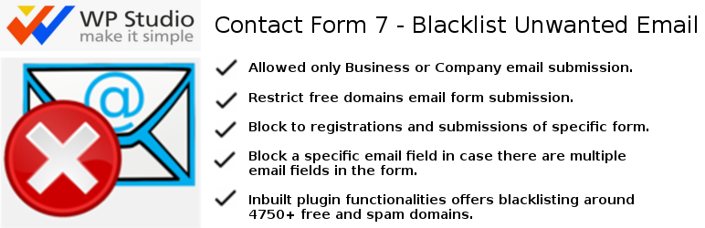 Contact Form 7 – Blacklist Unwanted Email