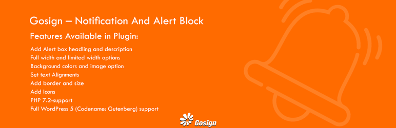 Gosign – Notification And Alert Block