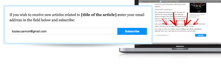 Effective email signup form. +300% Email Subscribers and Automated Newsletter | News@me | auto newsletter