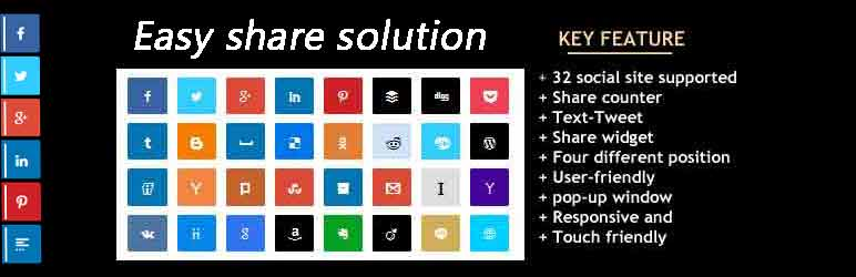 Easy share solution | Noor alam | share buttons
