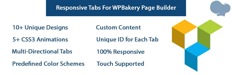 Responsive Tabs For WPBakery Page Builder (formerly Visual Composer) | vcaddon | No label temporarily