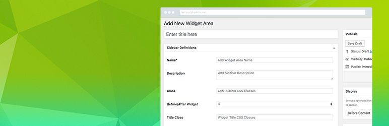 Widget Areas | Widget Options Team | custom widget area