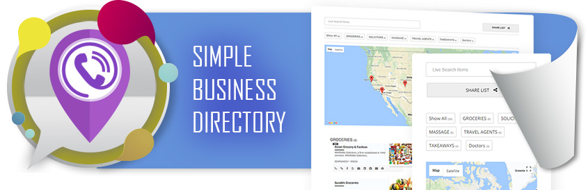 Simple Business Directory with Google Maps