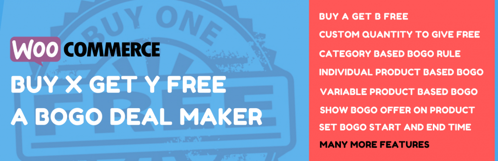Buy one Get one Free – Other similar BOGO WooCommerce discount rule maker