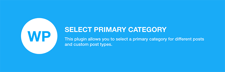 WP Select Primary Category