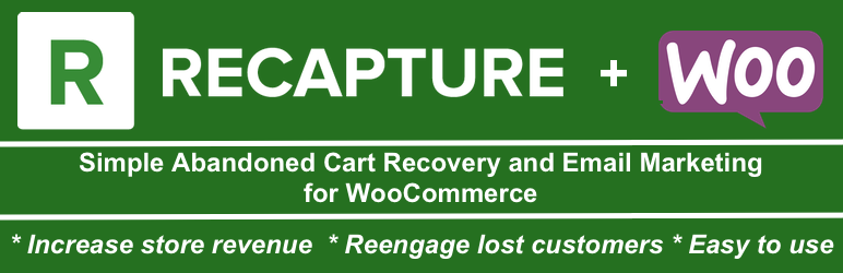 WordPress abandoned cart recovery and email marketing for WooCommerce by Recapture