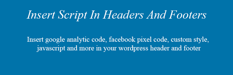 Insert Script In Headers And Footers