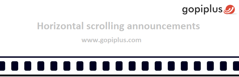 Horizontal scrolling announcements