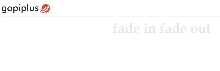WP fade in text news