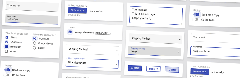 Material Design for Contact Form 7