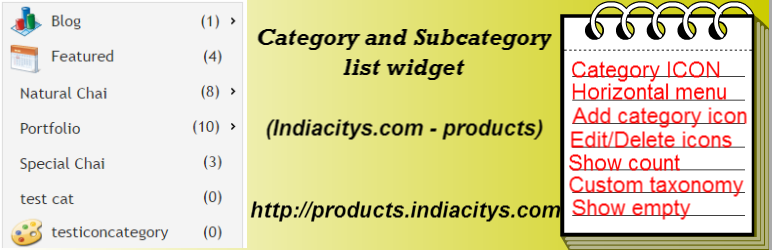 Category and Subcategory list widget