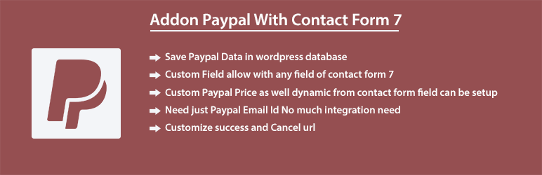 Addon Paypal With Contact Form 7 | avdevelopers426 | contact form 7 db