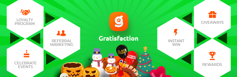 Gratisfaction- Contests Giveaways Referral Loyalty Rewards and Birthdays Program