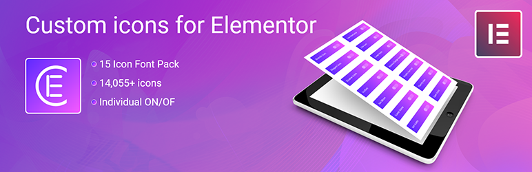 Skyboot custom icons for Elementor | Skybootstrap | custom icons