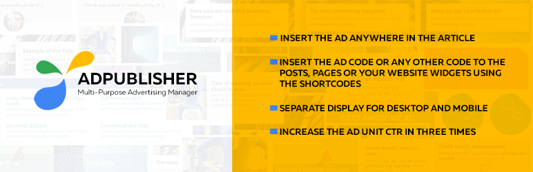 AD Publisher – Automatically insert post ads