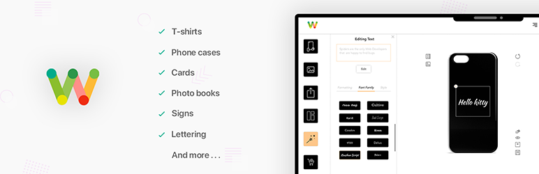 Woocommerce Products Designer by ORION – online product customizer for t-shirts