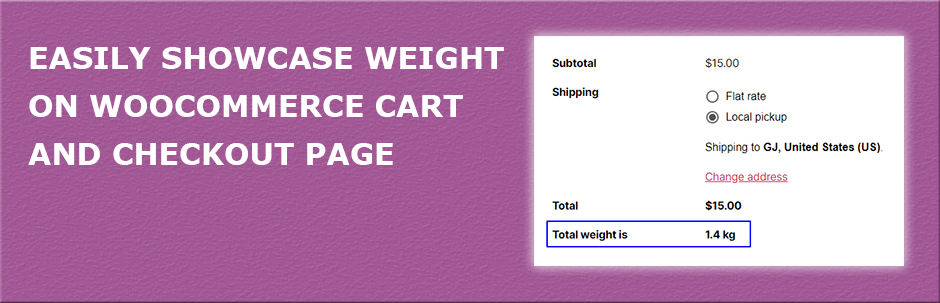Cart Weight for WooCommerce | theDotstore | cart