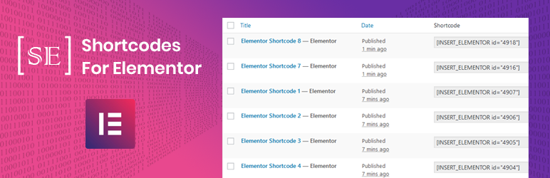 Shortcodes for Elementor | rs-theme | elementor