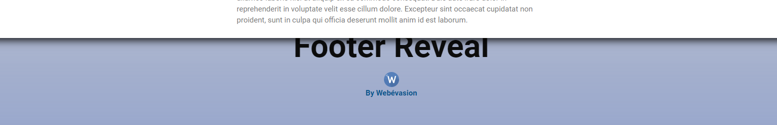 Read more about the article Footer Reveal Effect | Webévasion | effect,footer,Reveal