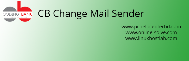 CB Change Mail Sender | Md Abul Bashar | change from email and name
