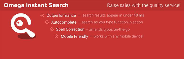 WooCommerce Search by Omega | Omega Search | faceted search