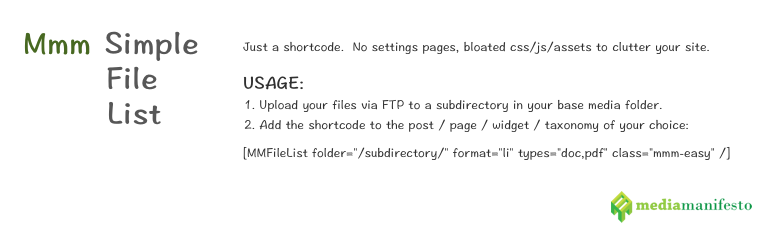 Read more about the article Mmm Simple File List   Adam Bissonnette   File List,shortcode