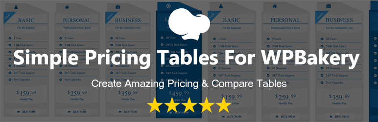 Simple Pricing Tables For WPBakery Page Builder(Formerly Visual Composer) | Labib Ahmed | compare tables