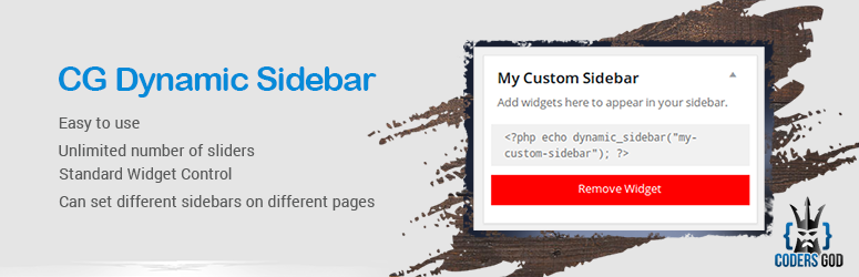 Read more about the article CG Dynamic Sidebar   Chandan Garg   custom sidebar,dynamic sidebar,sidebar
