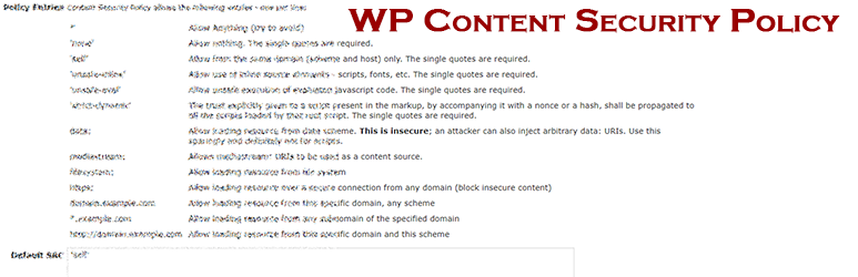 WP Content Security Plugin | Dylan Downhill | content security policy