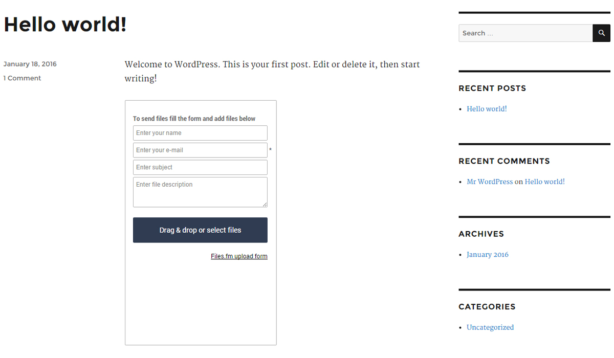 You are currently viewing Customizable File Upload Form with Backend Cloud Storage | Files.fm | cloud,file upload,folder,form