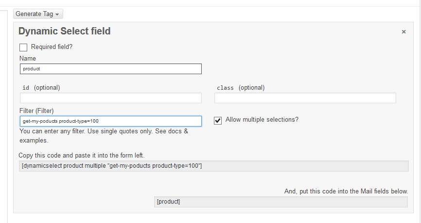 Dynamic Select for Contact Form 7 | John A. Huebner II | adopt-me