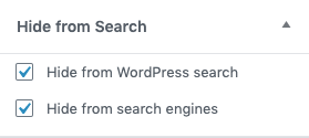 Hide from Search   Micah Wood   exclude from search