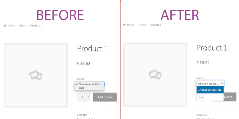 WooCommerce variations Select2 | Sti3bas | select2