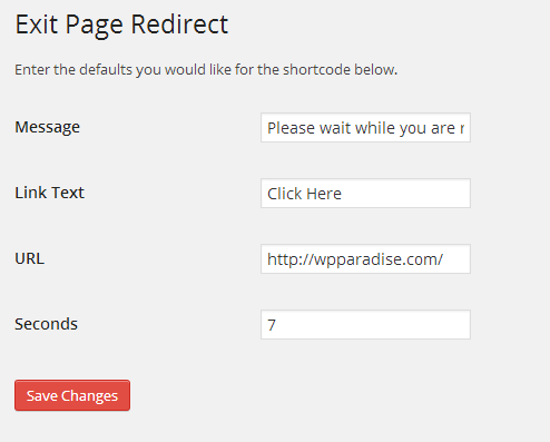 WP Exit Page Redirect   Lee Robertson   redirect