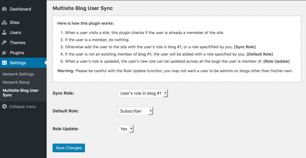 Multisite User Role Sync | Shawn Wang | blog
