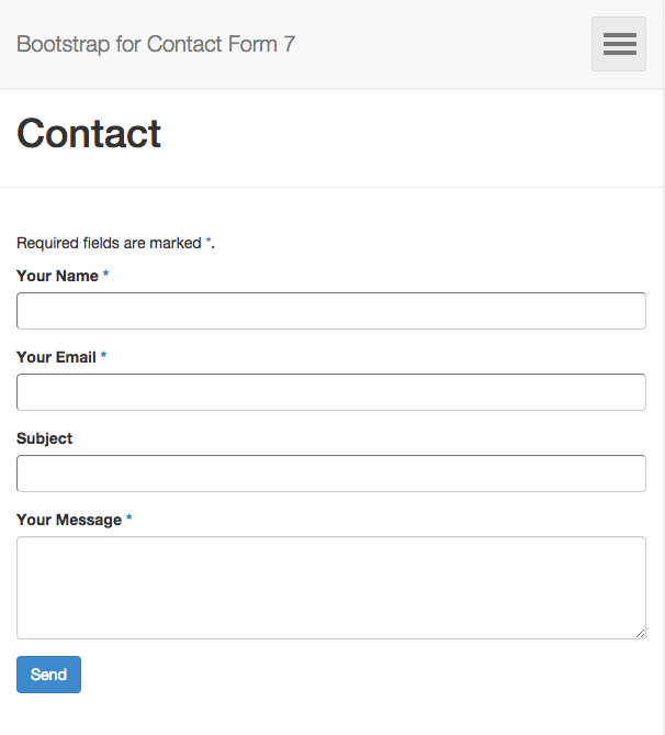 Bootstrap for Contact Form 7 | Felix Arntz | bootstrap