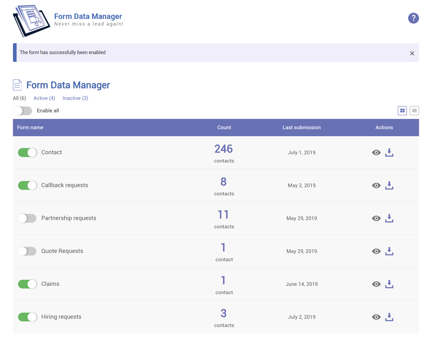 You are currently viewing Form Data Manager – FDM | OMNIDEV | contact form database,contact form db,contact form storage,save contact form,submissions