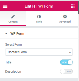 WPForms Widget For Elementor Page Builder | HasTheme | contact form