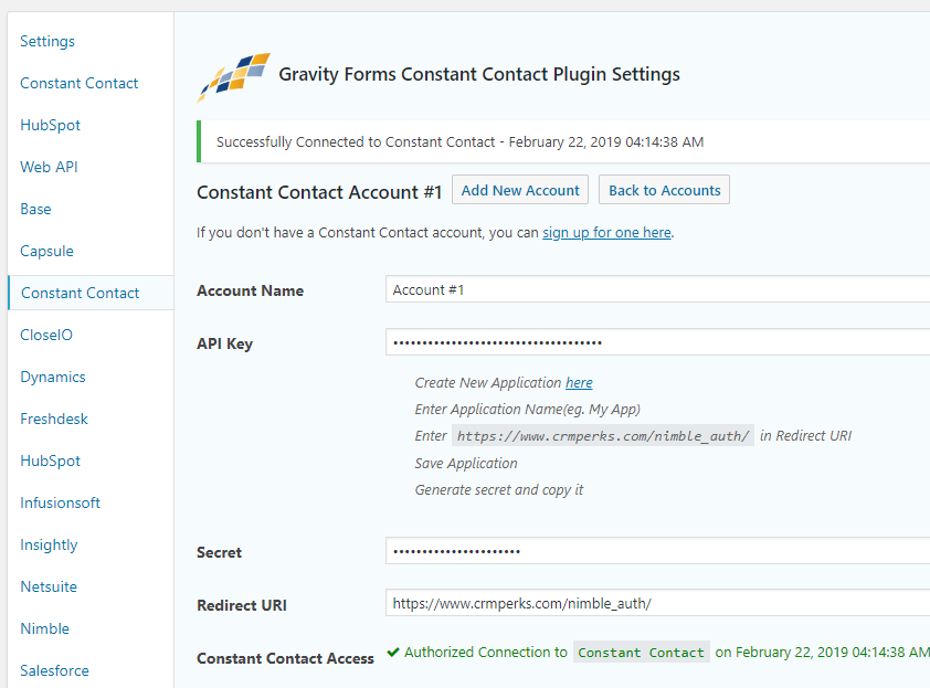 You are currently viewing Gravity Forms Constant Contact Plugin | CRM Perks. | constant contact,gravity forms