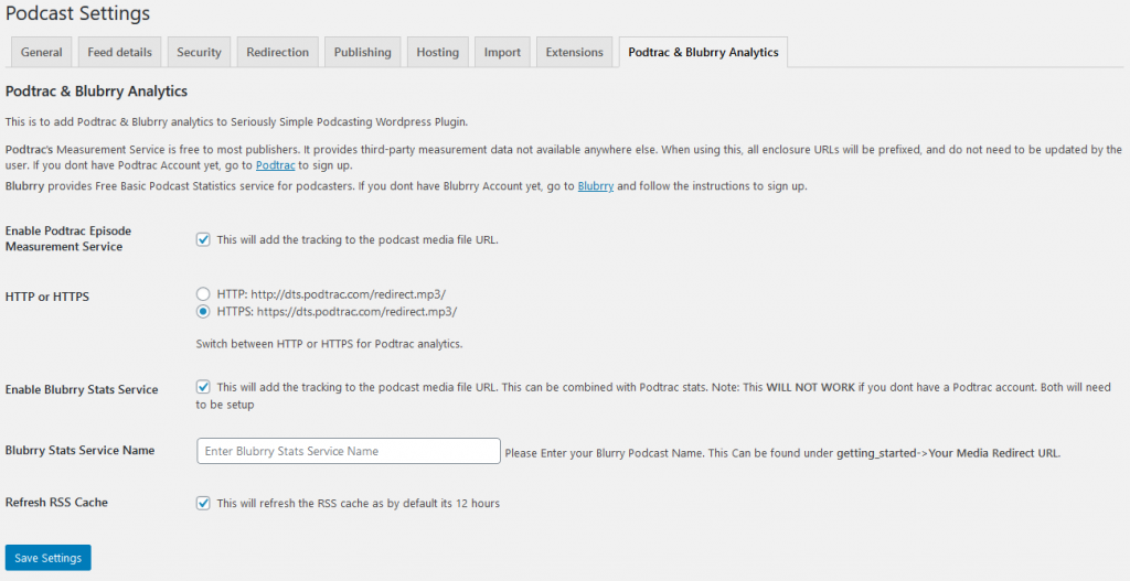 Add Podtrac Analytics for Seriously Simple Podcasting